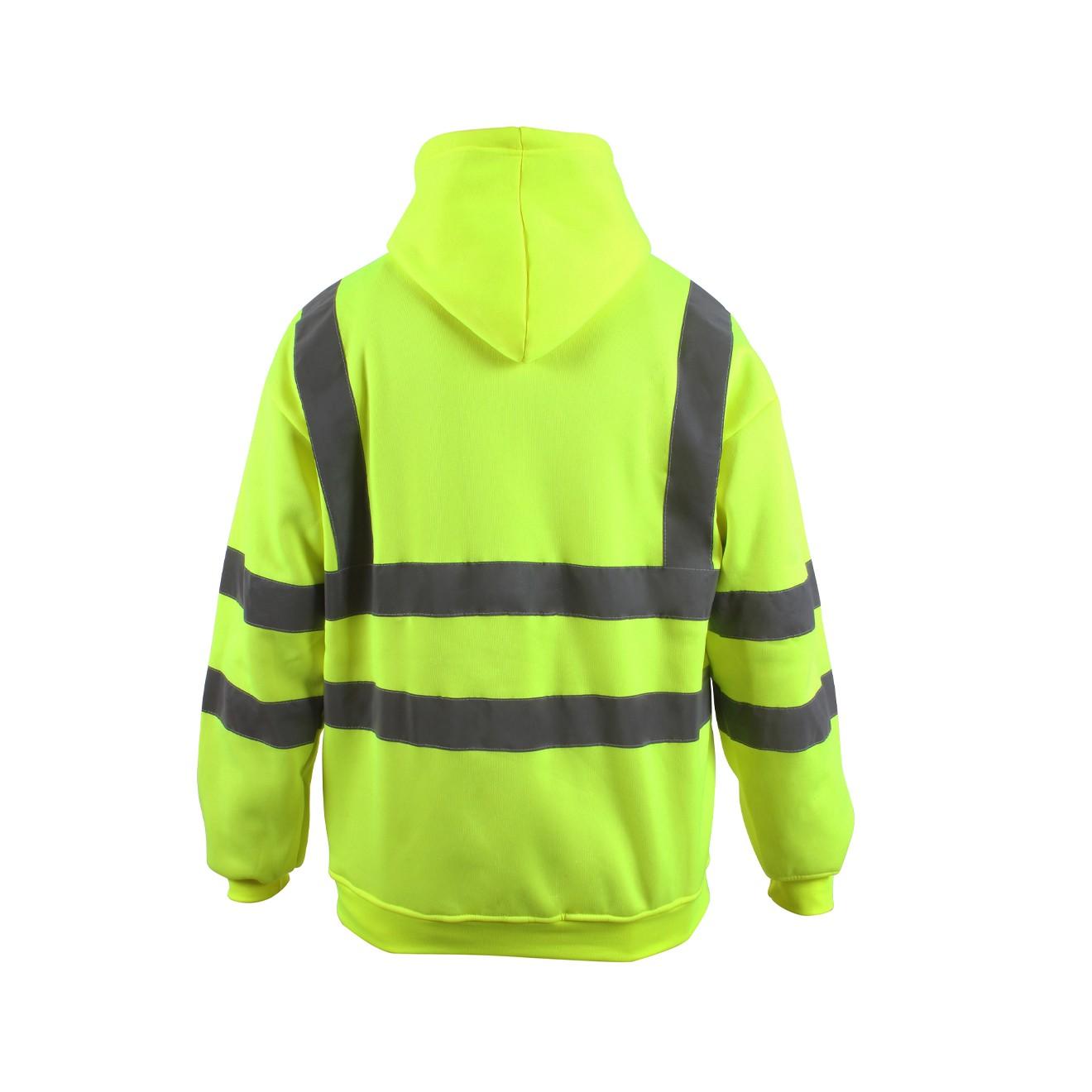 Hi Vis Hooded Sweatshirt